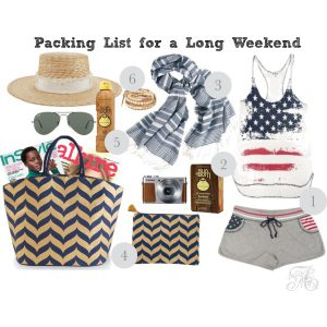 Memorial Day Weekend Packing List!